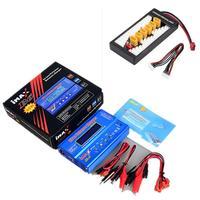New iMAX B6 LCD Screen Digital RC Lipo NiMh Battery Balance Charger +B6AC Lipo Charging XT60 / T Plug Adaptor Board 2 6S