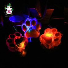 48pcs/lot Paw prints LED Glowing Necklace Flashing Light-up Toys Kids Birthday Festival Christmas Party Decors Take-home Favors