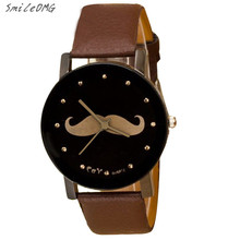 SmileOMG Hot Sale Fashion Watch Mustache Crystal Imitation Leather Quartz Wrist Watch Christmas Gift,Sep 13