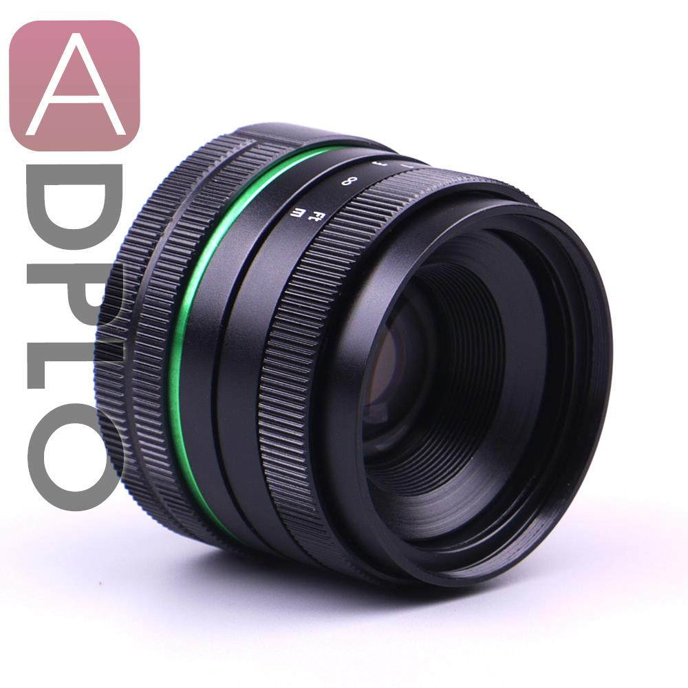 New green circle Lens 35mm Upgraded Style Manual Iris Lens  For NEX E.0SM N1 PQ Fuji, Nikon, Ol.ympus