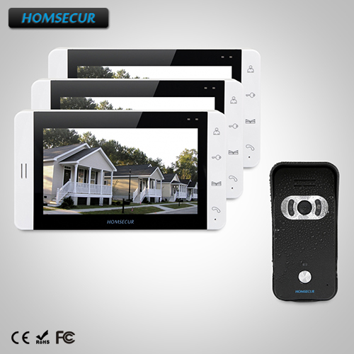 HOMSECUR 7 Wired Video&Audio Home Intercom+Dual-way Intercom for House/Flat 1C3M : TC021-B Camera(Black)+TM703-W Monitor(White)HOMSECUR 7 Wired Video&Audio Home Intercom+Dual-way Intercom for House/Flat 1C3M : TC021-B Camera(Black)+TM703-W Monitor(White)