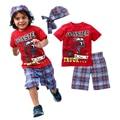 Meninos do bebê Roupas de Marca 2016 Crianças Roupas de Verão T-shirt + Calças Conjuntos de Vestuário Terno Estrela Impresso Roupas de bebê Recém-nascido Ternos do esporte V20