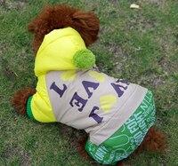 Sonbahar ve kış köpek pamuk ceket oyuncak vip giysileri pet giyim