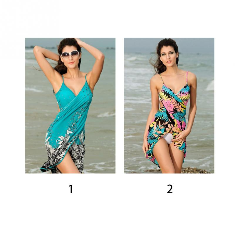 438d7342fb Summer Style Women Beach Dress Sexy bikini cover-ups sarong sling ...