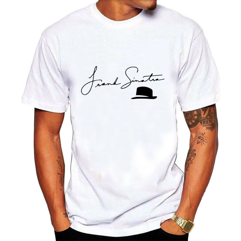 2017 New Arrivals Mens popular singer Frank Sinatra T shirt printing t-shirt hot sale Mens Fashion Novelty Short Sleeve Tee