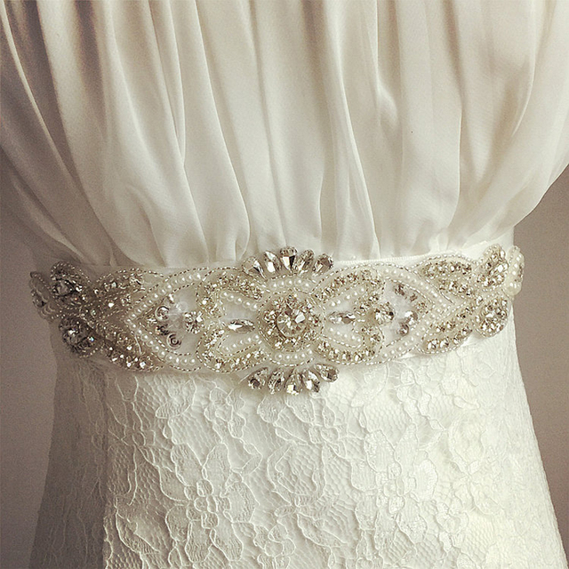 Beautiful Pearls Bridal Sash Belt Crystal Rhinestone New Arrival Handmade Formal Wedding Belt 2016 Accessories Party Ribbon Belt