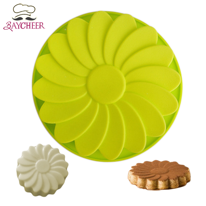 Baycheer Flower Silicone Bread Cake Pan For Brownies Cookies Mousse Molds ...