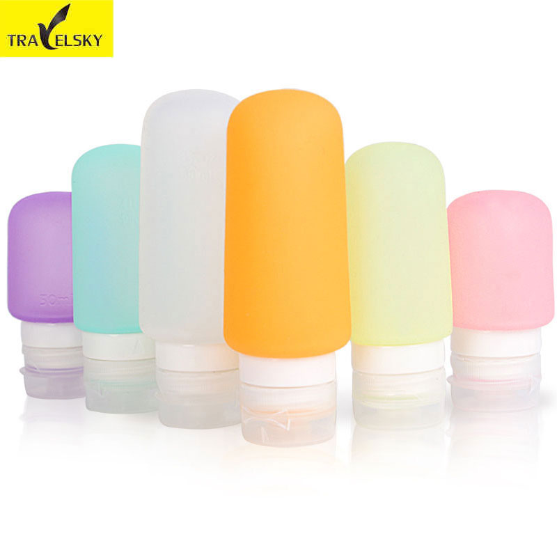 Travelsky Mini Makeup Bottling Container Resor Bärbara Flytande - Hemlagring och organisation