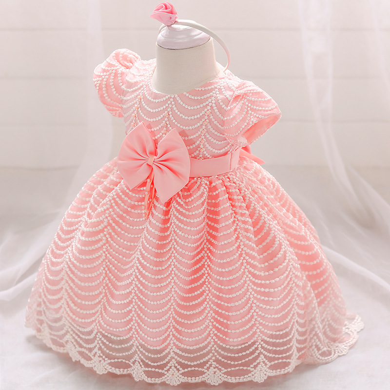 Baby Girl Winter Clothes Wedding Tutu Dress For Girls Princess Christmas Dress Infant 2 1 Year First Birthday Girl Party Dress недорго, оригинальная цена