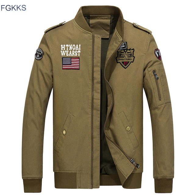 fgkks bomber jackets men 2017 winter military jacket men autumn