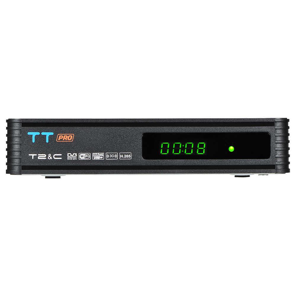 GTMEDIA TT Pro DVB-T2/T DVB-C Satellite TV Combo Receiver Support H.265 HD 1080P + 1 Year CCCAM digital set top box for Russian