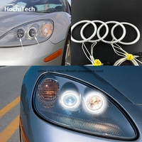 HochiTech WHITE 6000K CCFL Headlight Halo Angel Demon Eyes Kit Angel Eyes Light For Chevrolet Corvette
