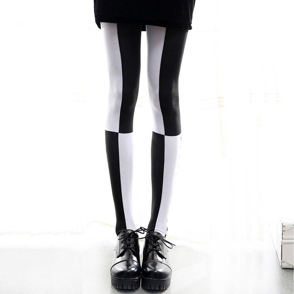 Japanese Harajuku Style Contrast Color Gothic Lolita Pantyhose Stockings Girls Tights