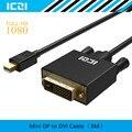 ICZI Thunderbolt Mini DisplayPort to DVI Cable 3M 1080P Mini Display port Mini DP to DVI Adapter for MacBook Surface etc
