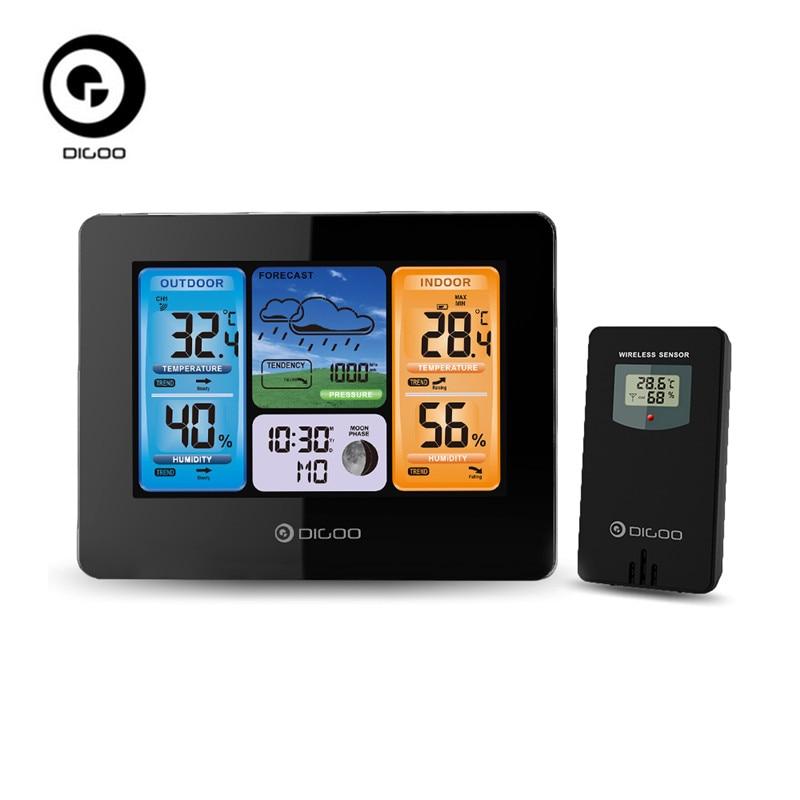 Digoo DG-EX001 WIFI APP Smart Weather Station Wireless Color Screen Temperature Humidity Outdoor Sen цена 2017