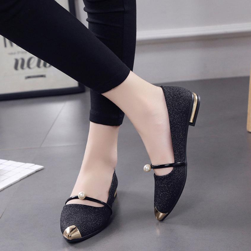Shoes Women Pointed Toe Sandals Ladise shoes Pumps Spring Autumn Casual Low Heel Shallow Elegant wedding Shoe 35-39 2018 Gifts 2017 korean women shoes pointed toe shallow mouth flat heel buckle hollow pearls lady fashion flats women summer sandals 35 39