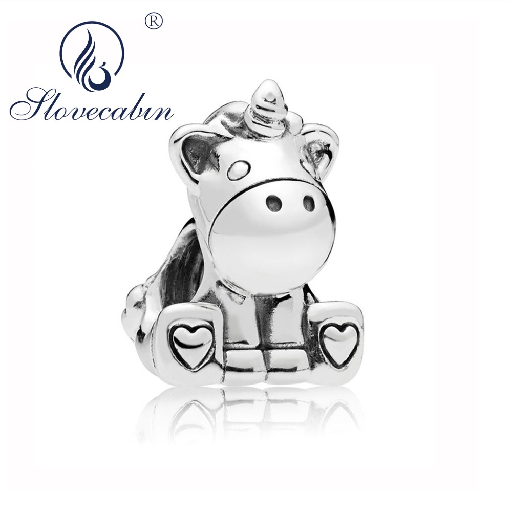 Slovecabin 2018 Autumn Bruno the Animal Charm Beads for Jewelry Making Charm 925 Sterling
