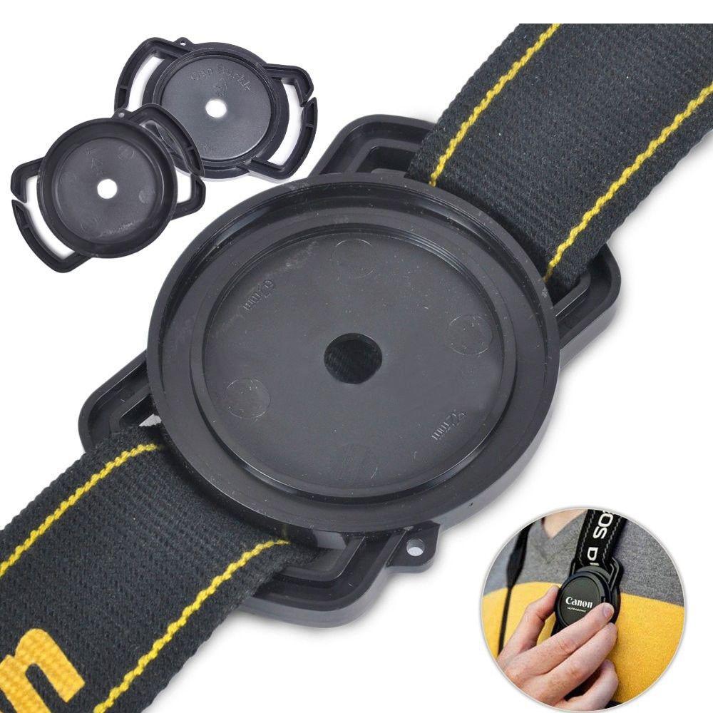 Universal Anti-losing Camera Lens Cap Holder Keeper Buckle On Strap 52mm 67mm 58mm / 43mm 52mm 55mm / 40.5 49mm 62mm / 72 77 82