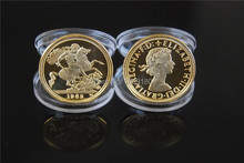 1963 (Queen Elizabeth II) Gold Sovereign Mint Coin 5pcslot Free shipping coin coins mini size 22.05 thickness 1.8mm
