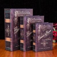 Vintage wool decoration book props storage box props books Strong Home Antique Decorative wholesale 3PCS