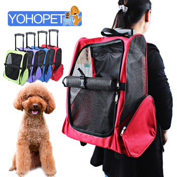 New high quality Pet travel package oxford Pet draw bar box Backpack Dog Cage ventilation Pet Crate Travelling dog bag For Cats
