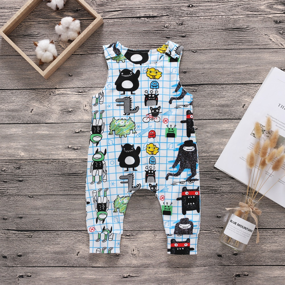 2018 New Newborn Baby Boys Girls   Romper   Floral Printed Sleeveless Cotton   Romper   Kid Jumpsuit Playsuit Outfits Clothing