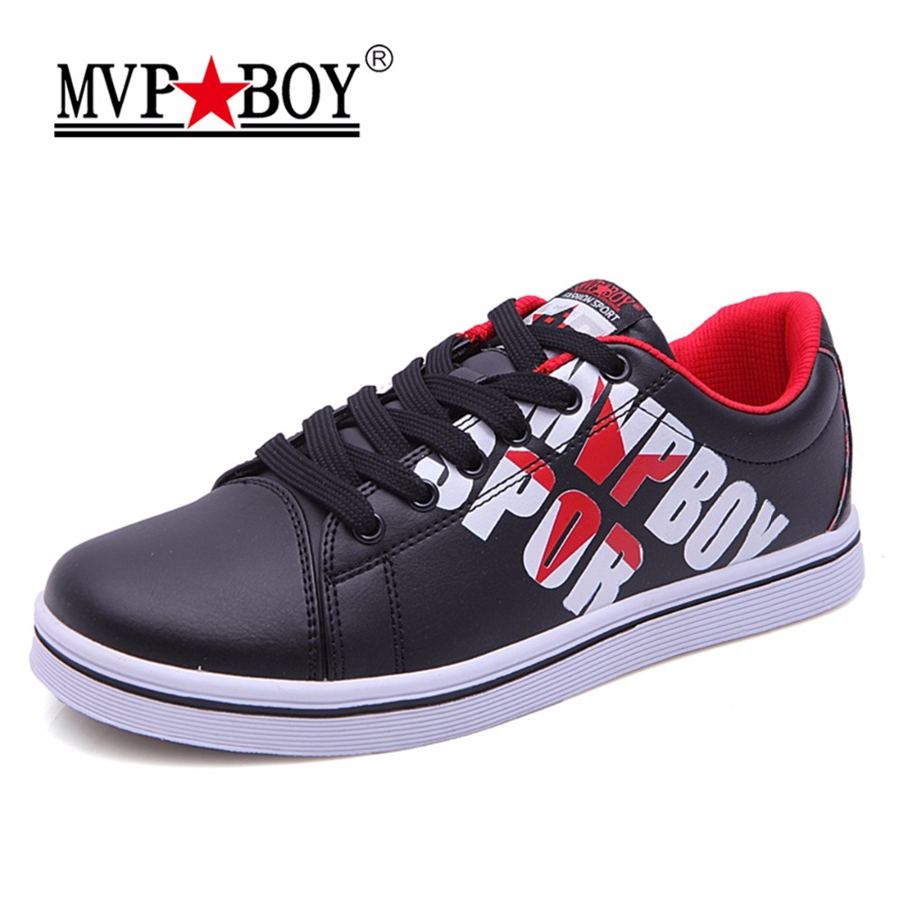 MVP BOY 2017 New Classics Style Men Casual Shoes Lace-Up Leather Men Shoes Comfortable Men flats Shoes Soft Light Free Shipping