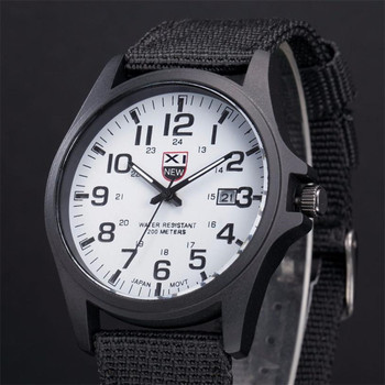 XINEW Band Hot Sell Outdoor Mens Date Stainless Steel Military Sports Analog Quartz Army Wrist Watch Dropshipping 0803 1