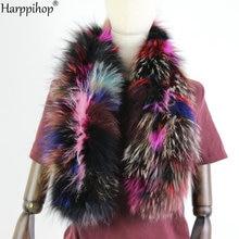 2019 novas mulheres genuínas de malha de pele de raposa cachecol de pele real gola inverno quente aquecedores de pescoço prata raposa cor mista cachecol 130cm