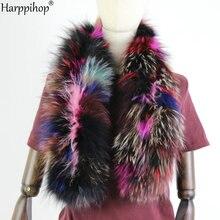 2019 nowych kobiet z prawdziwej dzianiny futra lisa szalik kołnierz z prawdziwego futra zimowe ciepłe szyi grzałki silver Fox mieszane kolorowy szalik 130cm