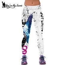 [You're My Secret] Women Leggings For Joggers Fitness Legging High Waist Elastic Tiger Sporting Leggins Workout Jegging