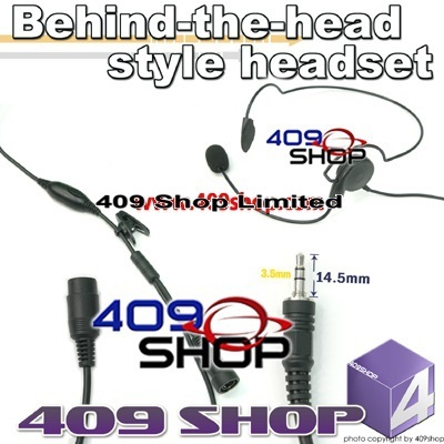 Behind-the-head style headset + Mini Din Plug 44-V Visar series