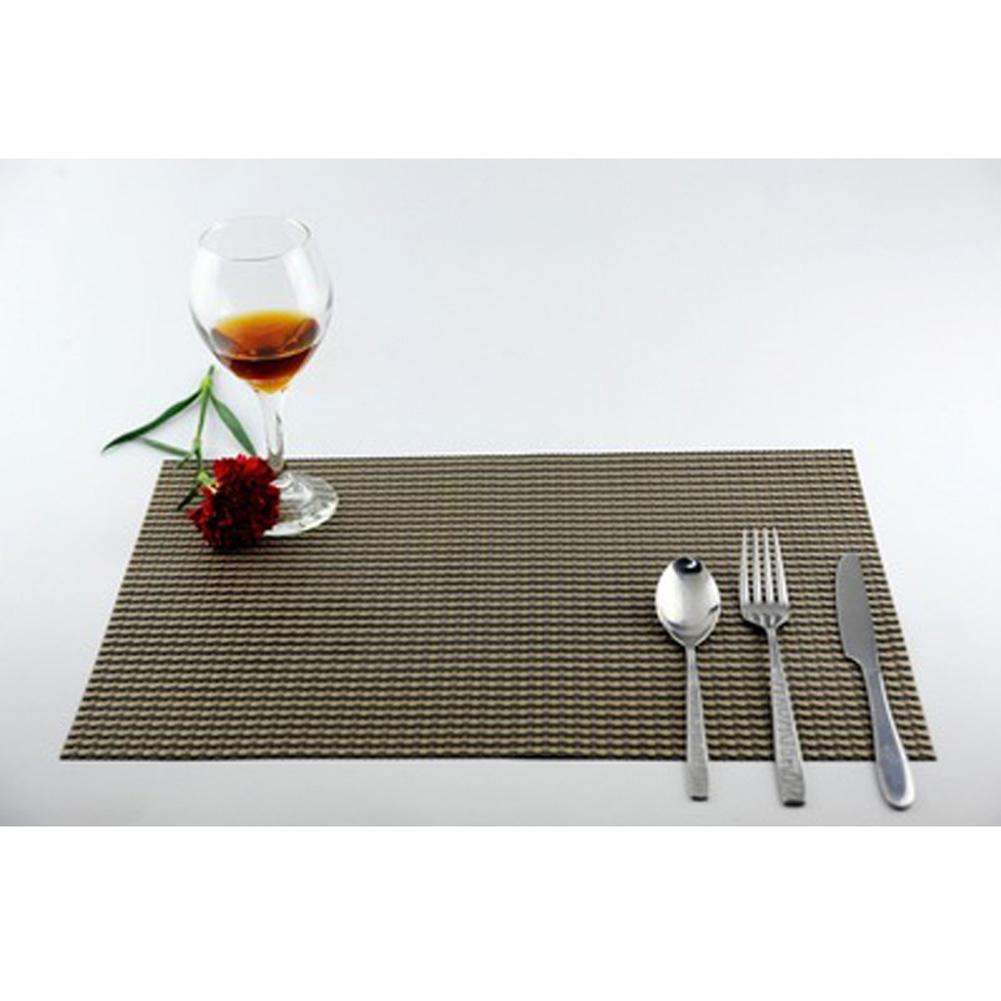 Dining table mats - 1pc Placemat Fashion Pvc Dining Table Mat Disc Pads Bowl Pad Coasters Waterproof Table Cloth Pad Slip Resistant Pad