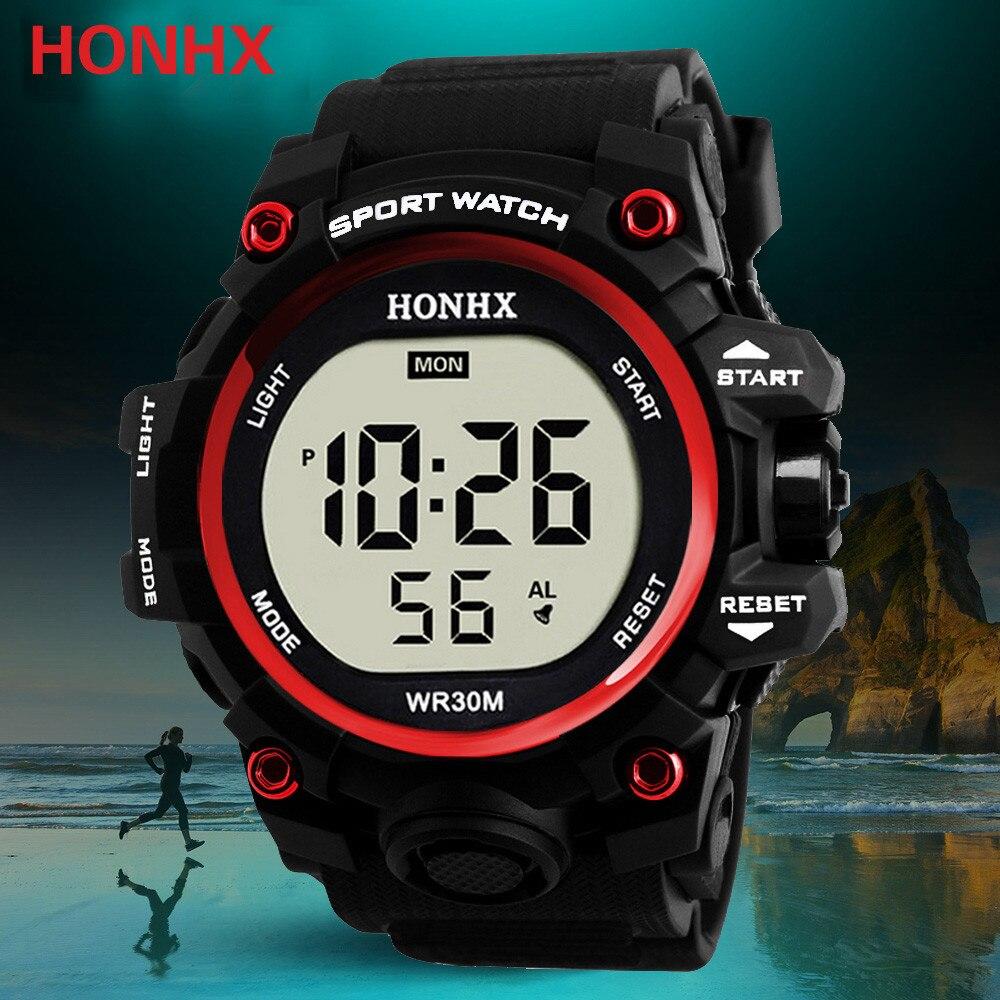 Men's Clock Sport Digital LED Waterproof Wrist Watch Luxury Men Analog Digital Military Army Stylish Mens Electronic Watch A40