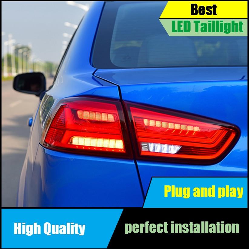 For Mitsubishi Lancer 2009-2017 Dynamic Turn Signal Tail Light Assembly LED Taillight Rear Lamp Driving+Brake+Park+Reversing+ hireno tail lamp for mercedes benz w220 s280 s320 s350 s500 s60 1998 05 led taillight rear lamp parking brake turn signal light