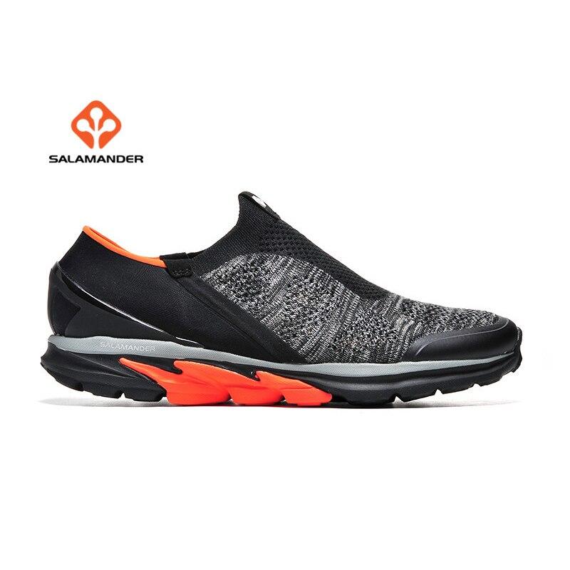 Саламандра мужская летний открытый треккинг пешие прогулки кроссовки обувь для мужчин Спорт Flyknit кемпинг туризм тренажерный зал тропа Горная обувь Сникеры