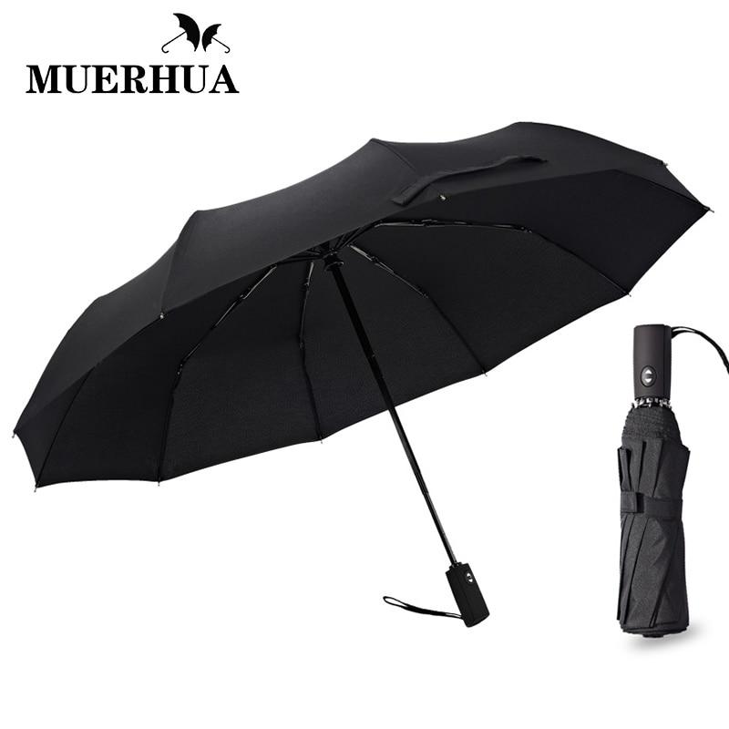 ed21b3e2917d US $31.65 |MUERHUA Big Black Wind Resistant Folding Automatic Umbrella Male  Auto Luxury Windproof Umbrellas For Men Travel Rain 10K Parasol-in ...