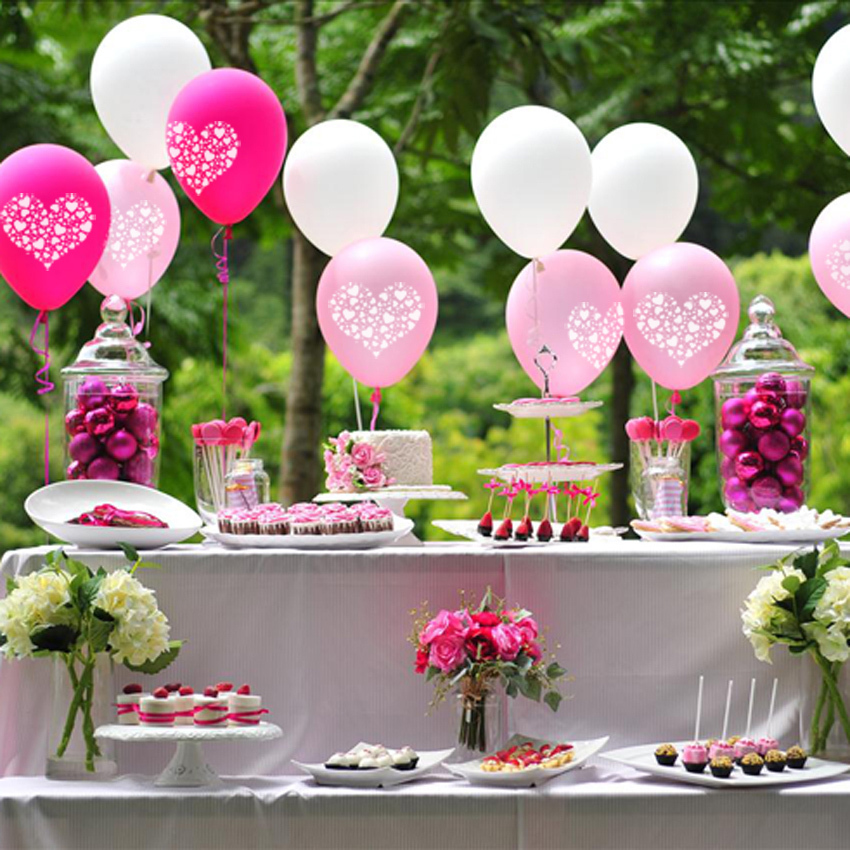 Free Shipipng 200pcslot Heart Pattern Balloon For Wedding