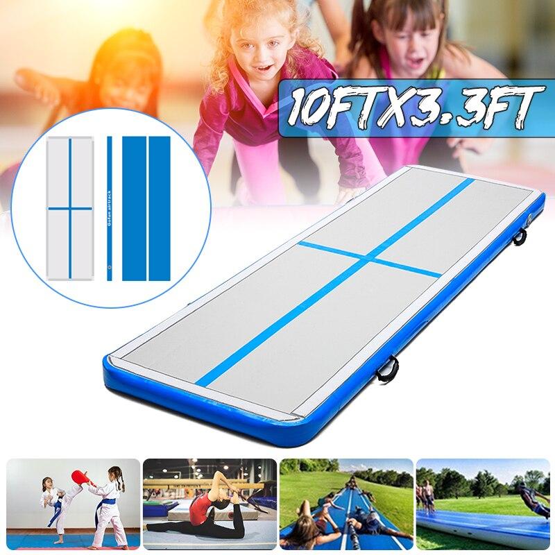 AirTrack 100x300x10 cm Gonflable Pas Cher Gymnastique Matelas Gym Linge Air piste Parole Tumbling Air Piste Pour vente