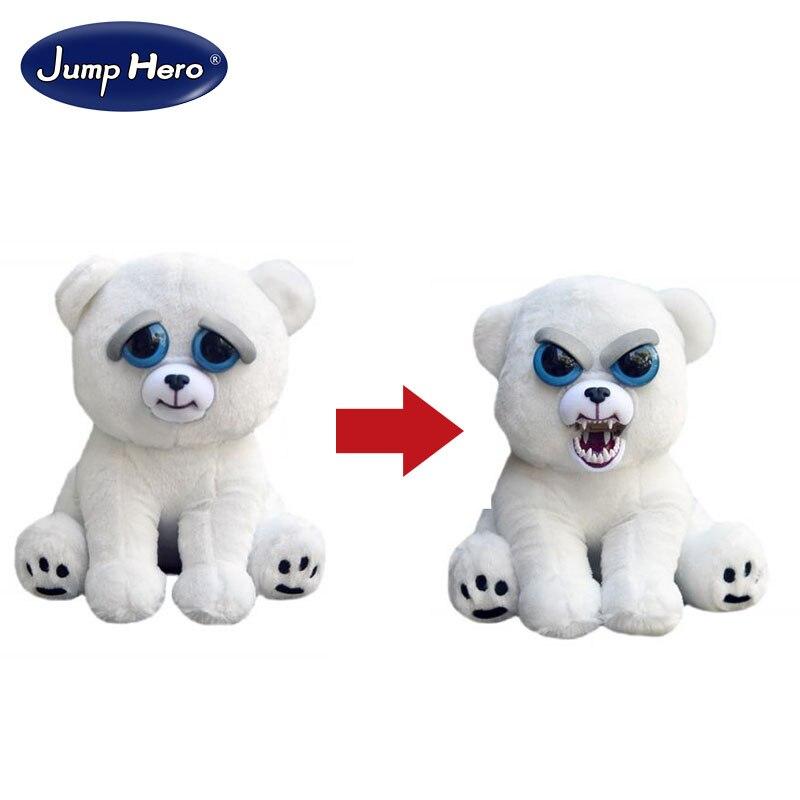 Уильям Марк изменить Уход за кожей лица Злющий Pet Карл в Snarl забавные выражения кукла животных для детей милый Рождество Бесплатная доставка