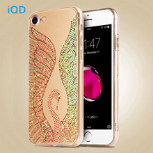 IQD For iPhone 7 Plus Case,Crystal TPU Slim Bumper and Acrylic Hard Back Elegant Shining Swan Protective Cover for iPhone 7 Case