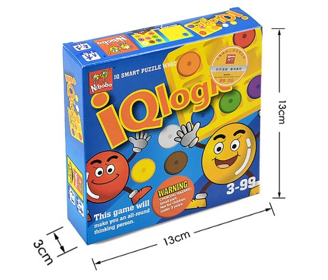 New Quality IQ Logic Game Puzzle Mind Brain teaser Educational Toys for Children Kids Adults