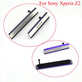 For Sony Xperia Z2 D6502 D6503 D6543 L50W Micro SD USB + SIM Card Slot dust Plug Cover Charging Port , Free shipping