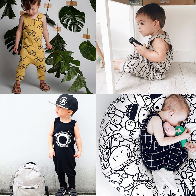 Ins Fashion Summer Newborn Infant Baby Boys Climb Clothes ...