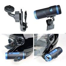 Helm Side Clip Mount Houder voor Gopro Sony Sjcam & Garmin Actie Camera 360 Graden Verstelbare voor Snowboarden Skydiving