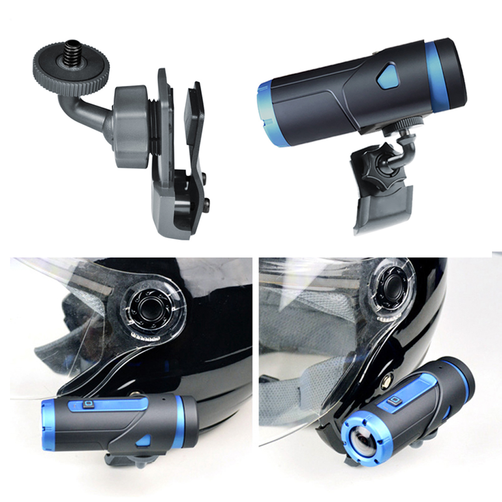 Helmet Side Clip Mount Holder for Gopro Sony Sjcam & Garmin Action Camera 360 Degree Adjustable for Snowboarding Skydiving