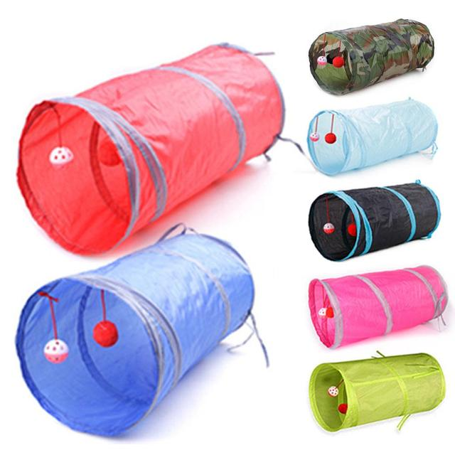 Multiple holes Foldable Funny Cat tunnel  My Pet World Store
