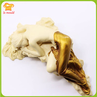 2019 new LXYY MOULD female sculpture side lying sleeping position candle soap silicone mold plaster concrete handmade tools