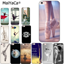 MaiYaCa Sexy Ballet Dancing Girls Ballerina Ballet Shoes Soft Phone case For iPhone X XS MAX XR 5s 6s plus 7 8plus case coque