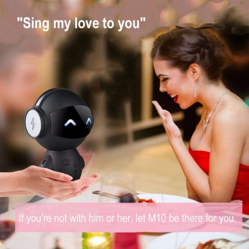 Cute-Intelligent-Robot-Bluetooth-Speaker-M10-Mini-Smart-robot-super-Bass-Portable-Bluetooth-speakers-for-Power